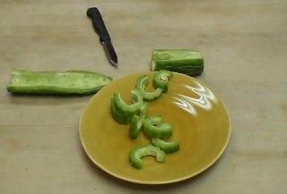 cut bitter melon