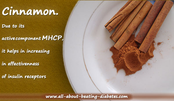 cinnamon as  natural cure for diabetes