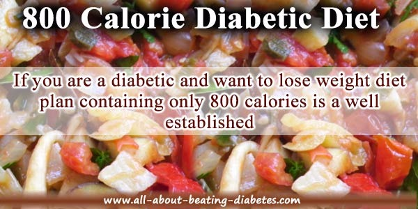800 calorie diabetic diet plan