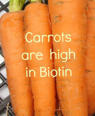 carrots and   biotin