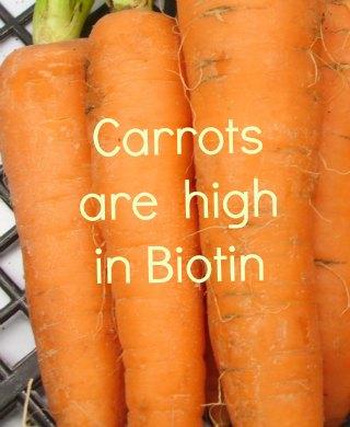 carrots and   biotin
