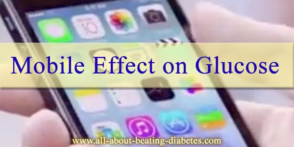 effect of mobile on blood sugar level