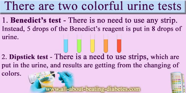 diabetes urine test results