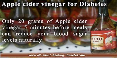 Apple cider vinegar should be taken before meals