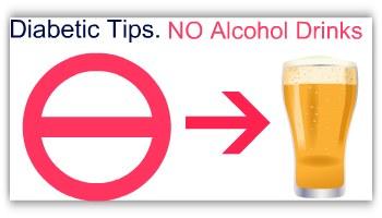 no alcohol for diabteic