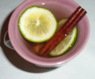 cinnamon lemon tea