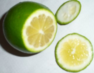 Cut a fresh lemon