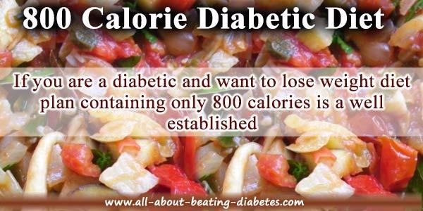 800 calorie diabetic diet plan