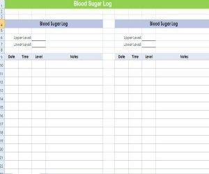 blood sugar log sheet