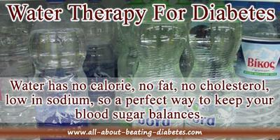 Water therapy for blood sugar level balance